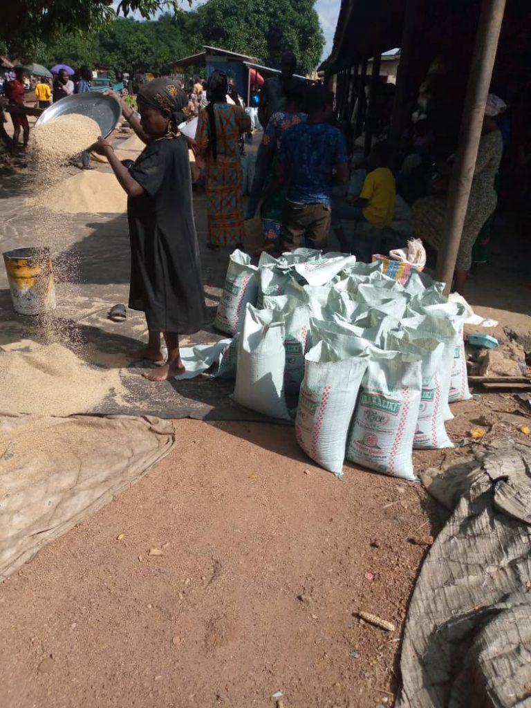 Bags of Abakiliki Rice