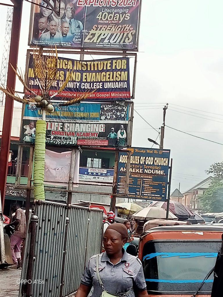 Ikwuano Umuahia- Ikot-Ekpene road.